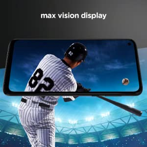 "Max Vision display. Bring games and movies to life on a vivid 6.4"" Full HD+ display."