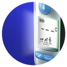 braun back light thermometer