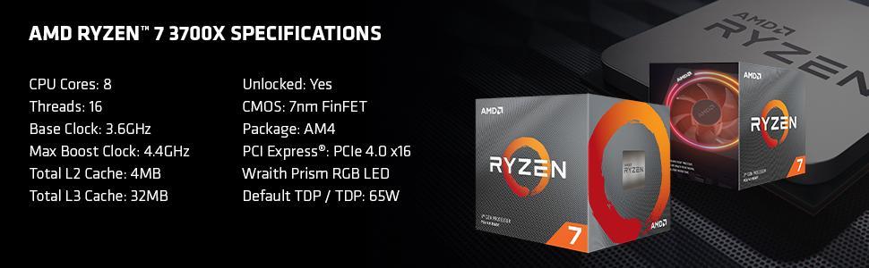 Ryzen 7 3700X Specs