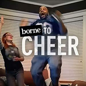 photo of a man and woman jumping for joy with the headline, borne to Cheer