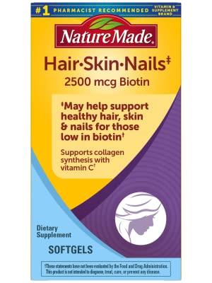 Nature Made Hair, Skin & Nails with 2500 mcg of Biotin Softgels