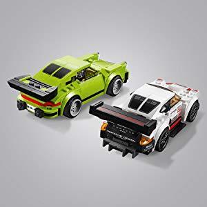 乐高速度冠军保时捷911 rsr和911 turbo 3.0   在排行榜上跟踪圈数.