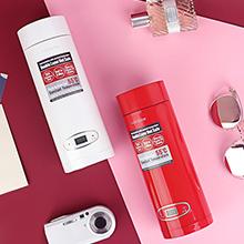 多功能电热杯,随身携带,全球适用,双层保温防烫,电子设定温度,内胆304钢,便携拎手,隐藏式电源线