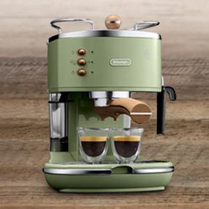 Icona vintageECO310.VGR 复古橄榄绿泵压咖啡机