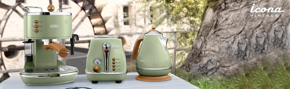 德龙icona vintage复古系列 Olivia橄榄绿色—自然和谐之美